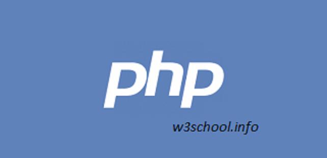 php w3school.info