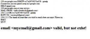 output - email verify